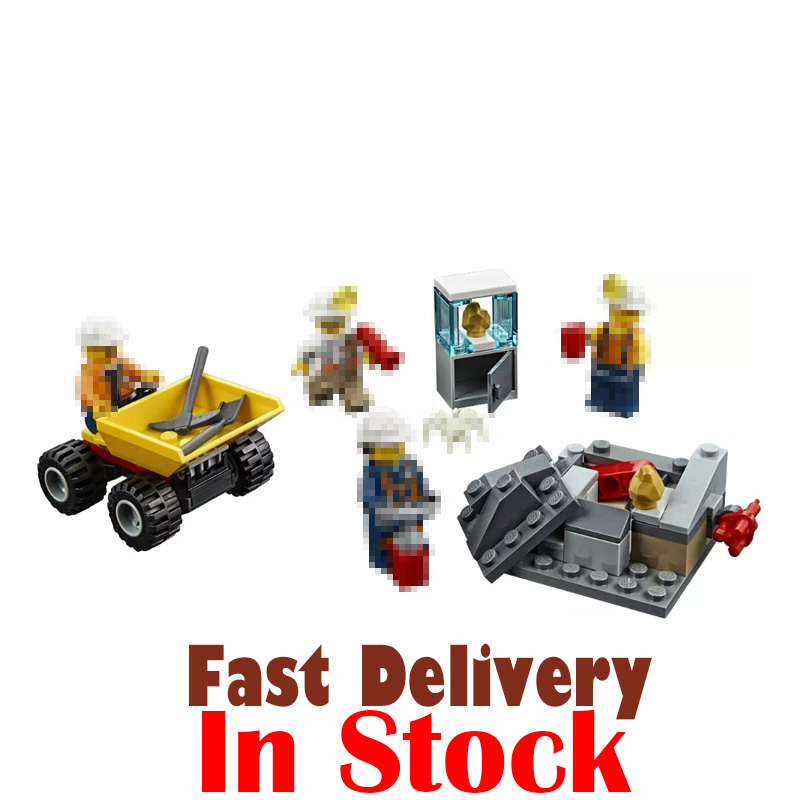 Mining Toys For Boys : Lepin mining team city construction figures building