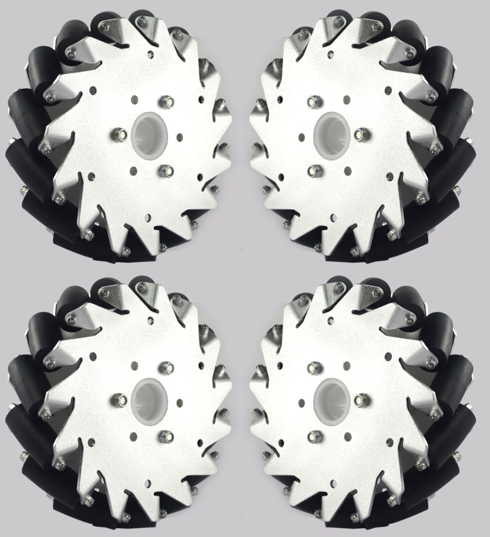 (6 Inch)152mm Aluminum Mecanum Wheels Set(2Left, 2Right)Basic 14165