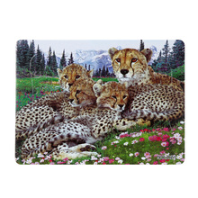 Купить с кэшбэком 3D Paper jigsaw puzzles toys for children kids toys brinquedos Wild Animal puzzle educational Baby toys leopard Puzles Puzzel