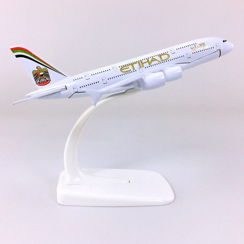 14CM 1:400 Etihad Airbus A380-800 model ETIHAD airplanes with base alloy aircraft plane collectible display toy model collection image
