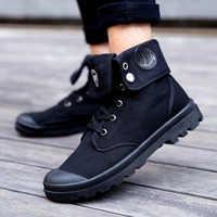 Homens botas militares 2019 moda ao ar livre lona alta sapatos masculinos sapatos casuais botas de tornozelo preto chelsea botas zapatos de hombre