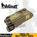 WoSporT Táctico PEQ-16 LA-5 Caja de Batería Caja de Equipo de Equipo Táctico Airsoft Caza Uso para Casco Rápido