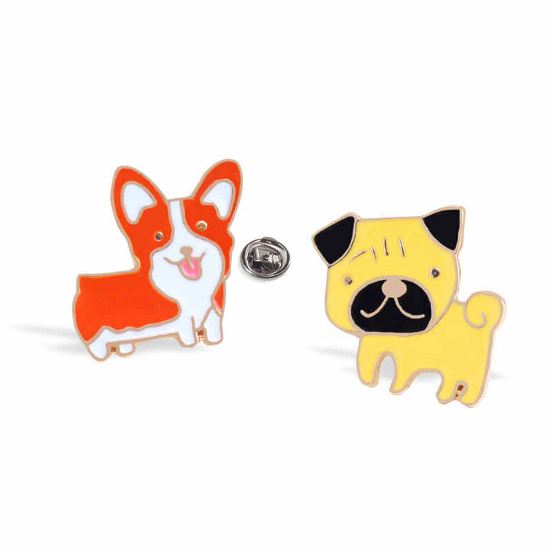 10 Styles Cartoon Brooches for Dog lovers Mini Puppy Animals Enamel Badge Pins Gift for dog mom Clothing Accessories Pin Jewelry
