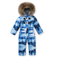 Children Winter Ski Suit Baby Boy Girl Clothing Windproof Warm Jacket for Girl Kids Thick Coats White Duck Down Jumpsuit Romper