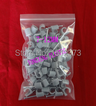 100pcs/bag hook cable clips PE material 0712