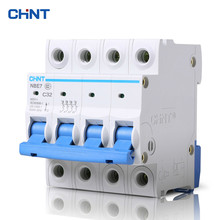 CHNT 4P 32A Miniature Circuit Breaker Household Type C Air Switch Moulded Case Circuit Breaker schneider circuit breaker c120h 4p d63a