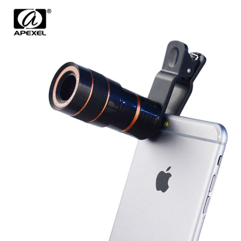 APEXEL 8x <font><b>Zoom</b></font> Mobile <font><b>Phone</b></font> Telescope Clip <font><b>Lens</b></font> for iPhone 5 5s 6 6 7 Plus Cell <font><b>Phone</b></font> Universal Camera <font><b>Lens</b></font> for Samsung