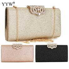 Women Gold Crystal Handbag Evening Bag Retro Beaded Clutch Bags Wedding Diamond Beaded Bag Rhinestone Small Shoulder Bags