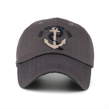 Embroidered Anchor & Rope Baseball Cap