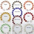 Faceted Shiny Silver Plated Glass Crystals Classic Bracelets for Fashion Women Shiny Crystal Dot Bracelets New Fashion Jewelry