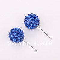 5 Paris Fashion Jewelry Shamballa Earring New Tresor Paris Allure CZ Disco Ball Bead