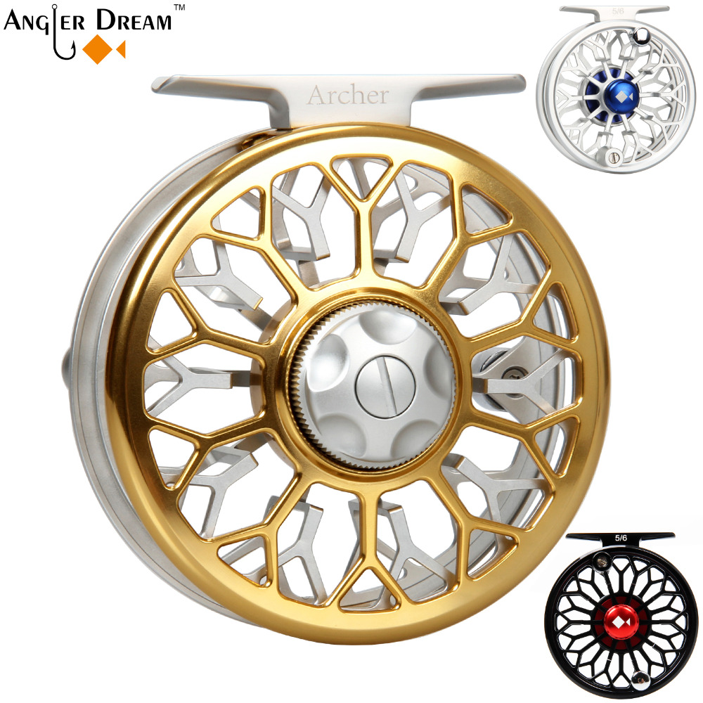 3 4 5 6 7 8WT Fly Reel CNC Machined 6061 T6 Aluminum Large Arbor Silver