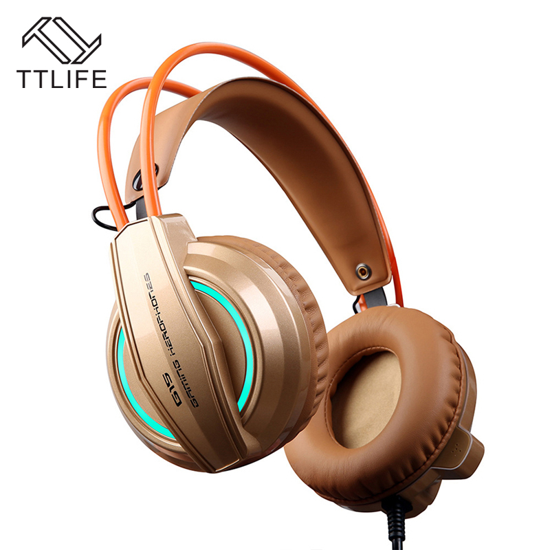 TTLIFE Game Headphones S1 Heavy Bass Headset Black Big Gaming HIFI Headphone With Mic for Computer PS4 Internet Bar