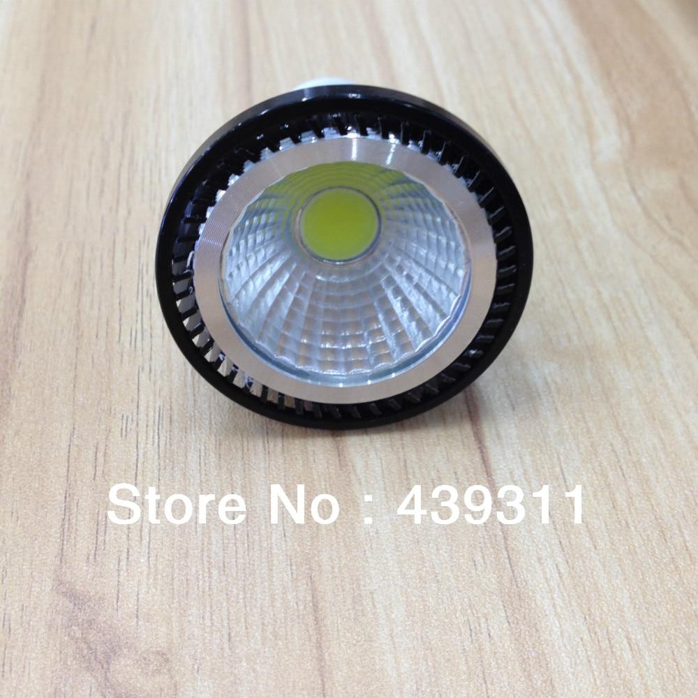2Pcs/Lot GU10 5W COB LED Spotlight Support Dimmer Warm White3000-3200K/ White6000-6500K High Brightness 500LM  Free shipping gu10 5w 400lm 3100k warm white led cob spotlight white