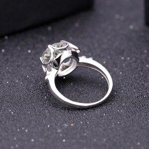 Image 3 - Gems Ballet 2.73Ct Natuurlijke Groene Amethist Engagement Ring Voor Vrouwen 925 Sterling Zilver Gemstone Vinger Ringen Fijne Sieraden