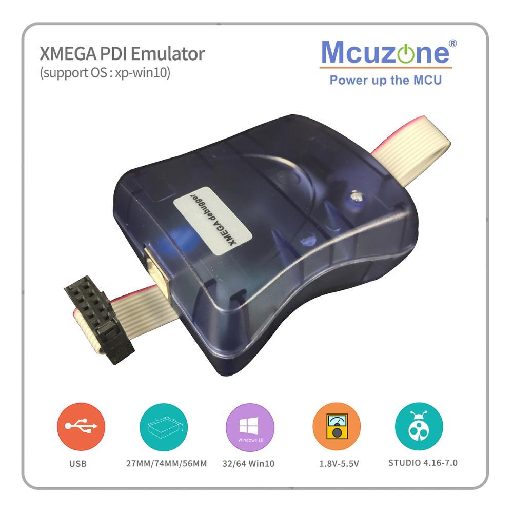 Free Shipping ATxmega PDI Emulator Programmer ATXMEGA128A1U 256A3U 64A3U ATXMEGA32A4U ATXMEGA32D4 AVR JTAGICE MKII