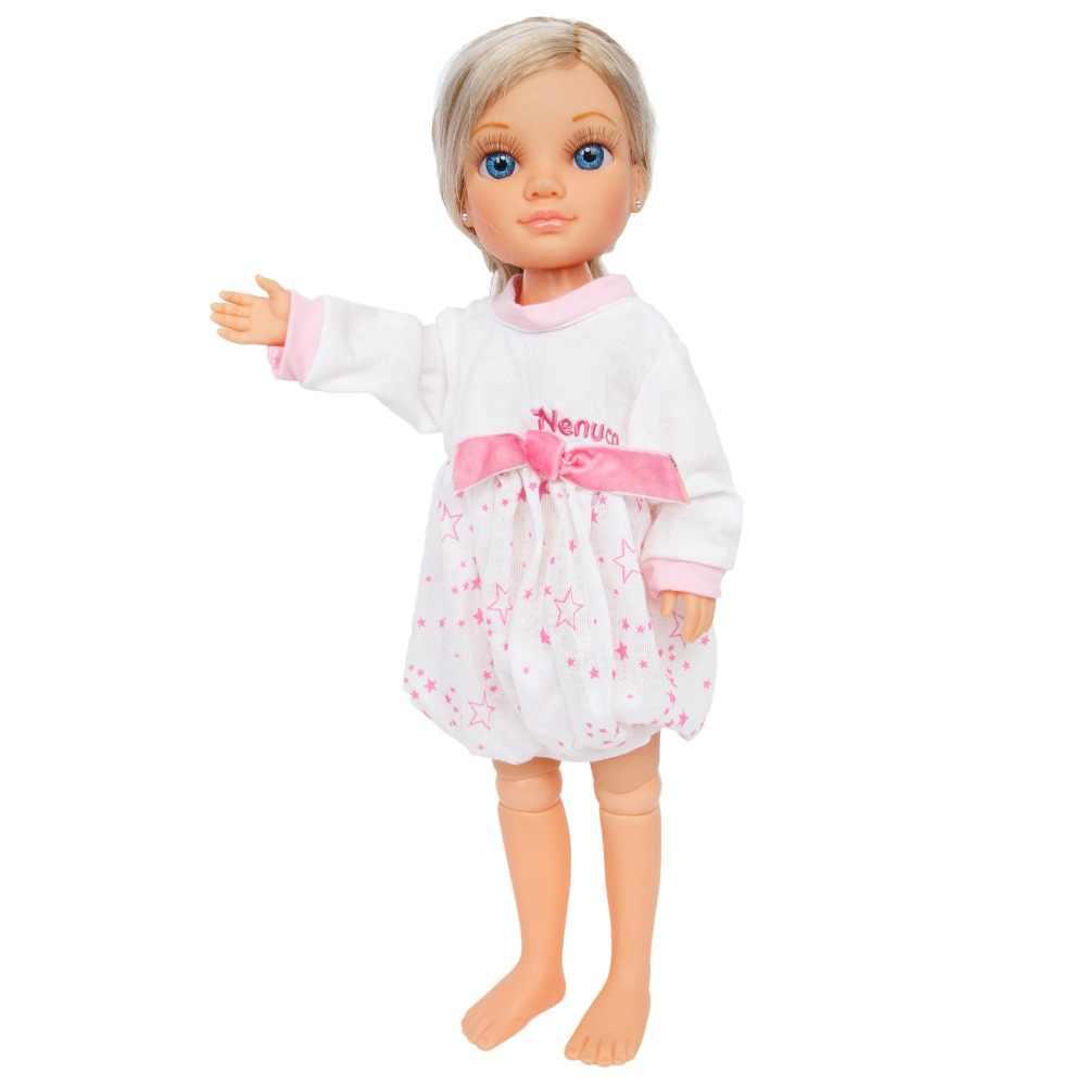 Alta qualidade vestido branco estrela padrão mini saia casual roupas de casa para sharon boneca para nancy boneca 16 accessories puppet puppet acessórios