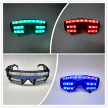 Wecool hot sale new design 7 color flashing LED glow glasses flashing led glasses laser glasses For Chirstmas party decoration