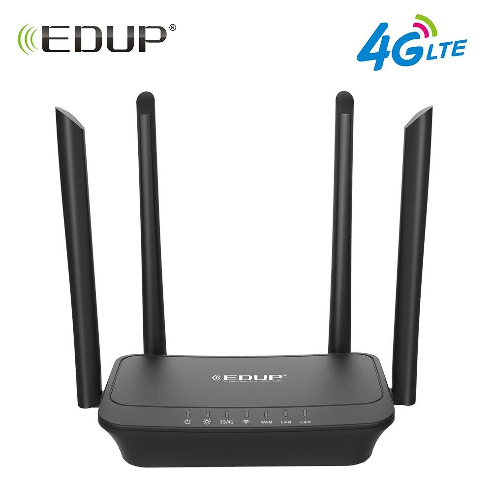 EDUP 300 Mbps Wireless Router Wifi 802.11b/g/n Wi-Fi Router 4g LTE FDD Mobile Hotspot Router CPE con Slot Per Sim e Porta LAN