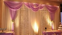 Фиолетовый SWAG с белый шелк льда фон с серебряными пайетками для свадьбы украшения/свадебные занавески/Свадьба драпировки
