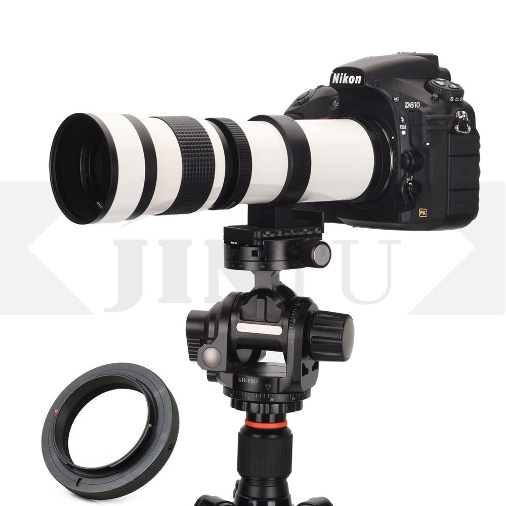 2019 NOUVEAU JINTU 420-800mm F/8.3-F16 Manuelle Téléobjectif + T2 Support pour CANON 650D 350D 800D 450D 750D 550D 600D 1200D 1300D
