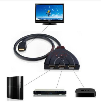 цена на HDMI Splitter 4K*2K 3 Ports Mini Switcher Cable 1.4b 1080P for DVD HDTV Xbox PS3 PS4 3 in 1 out Port Hub HDMI Switch