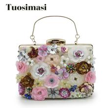 New Arrival Shell Flower Accessory Women Evening Bags Chain Shoulder Messenger Bags style women Ladies Handbags Tote handle