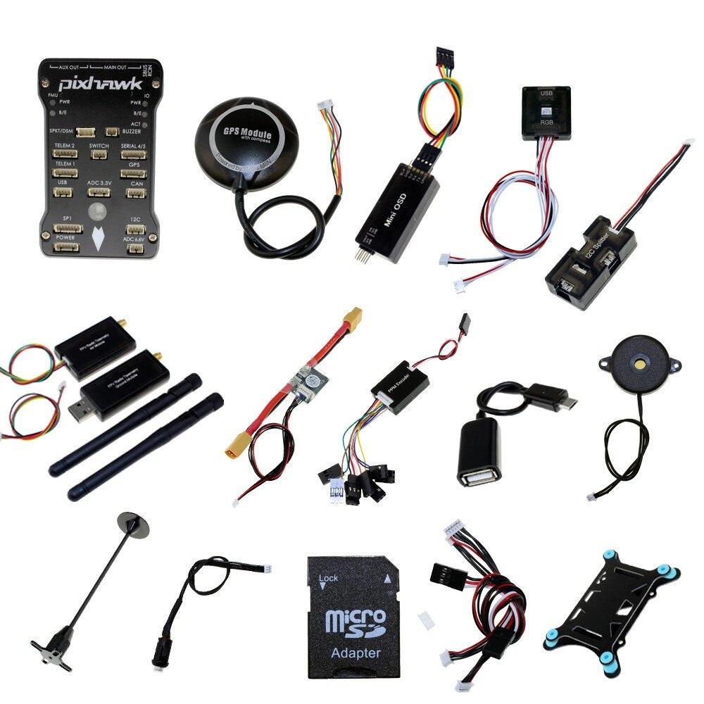 Pixhawk PX4 PIX 2.4.8 Contrôleur De Vol NEO-M8N Radio GPS Télémétrie OSD 3DR 433 mhz 915 mhz RC FPV Combo
