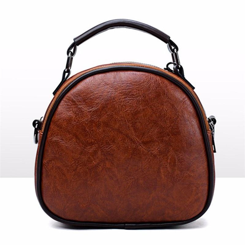 Bisi Goro 2018 Oil Wax Women Handbags Color Women Handbags High Quality PU Leather Patchwork Ladies Messenger Shoulder Bag
