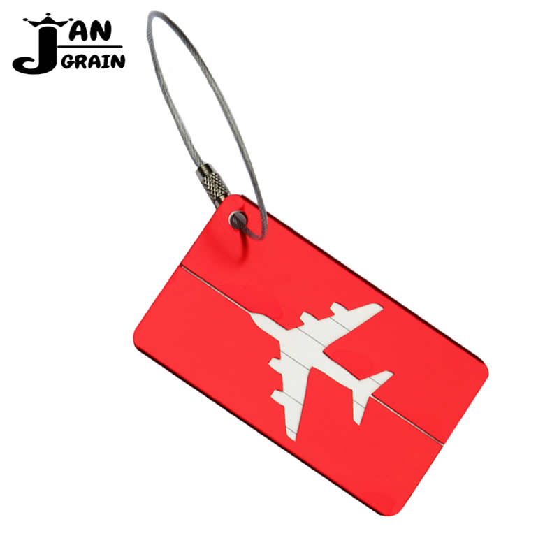 Labels, Indexes & Stamps Badge Holder & Accessories 500 Pcs Travel Luggage Tag Cover Creative Metallic Aircraft Suitcase Id Address Card Holder Baggage Boarding Tags Portable Label