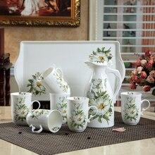 Verschiffen hochwertige keramik topf mit kaltem wasser und große kapazität wasser topf blume tee tasse Shuiju kreative haushalt geschenk set