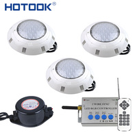 HOTOOK Underwater Light RGB LED Pool Light Kit IP68 With New 2Wires Remote Controll Power Supply 2to 6PCS Set For Fountain Pond