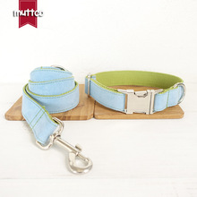2019 Handmade Petcircle Hot Sale Light Fresh Blue Pet Dog Leash Traction Rope Pets Dogs Collar For Small And Large XS-XL