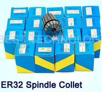 Spindle tool collet ER32 collet chuck full set 21pcs from 2 mm to 20 mm for CNC engraving milling machine spindle motor