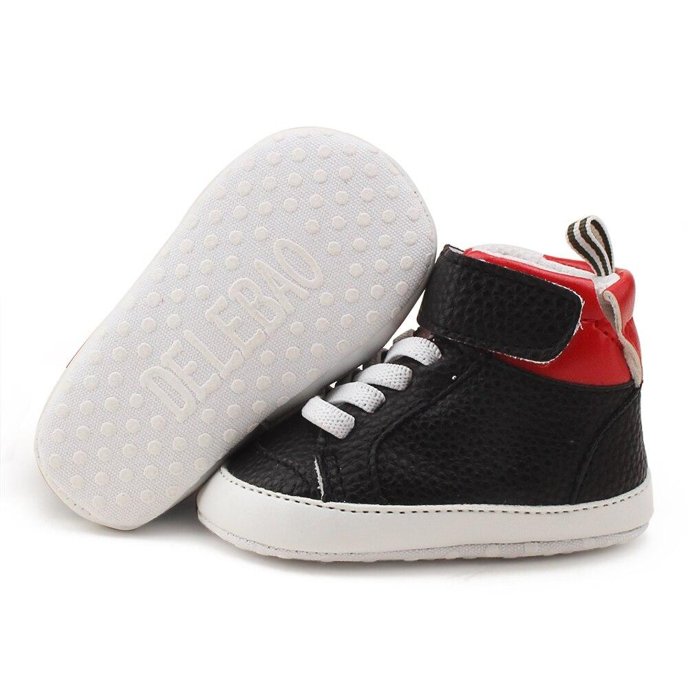 2018 Nieuwe PU-leer babyjongen Meisjesschoenen Klittenband-sneakers - Baby schoentjes - Foto 6