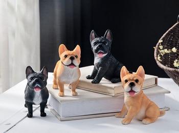 4PCS # TOP COOL - HOME BAR decorative art originality animal dog French Bulldog 3D Lovely statue-- free shipping