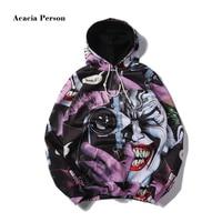 PLstar Cosmos 2017 DC Comics Batman Clown Print 3D Hoodies Joker Cartoon Sweatshirt Unisex O Neck