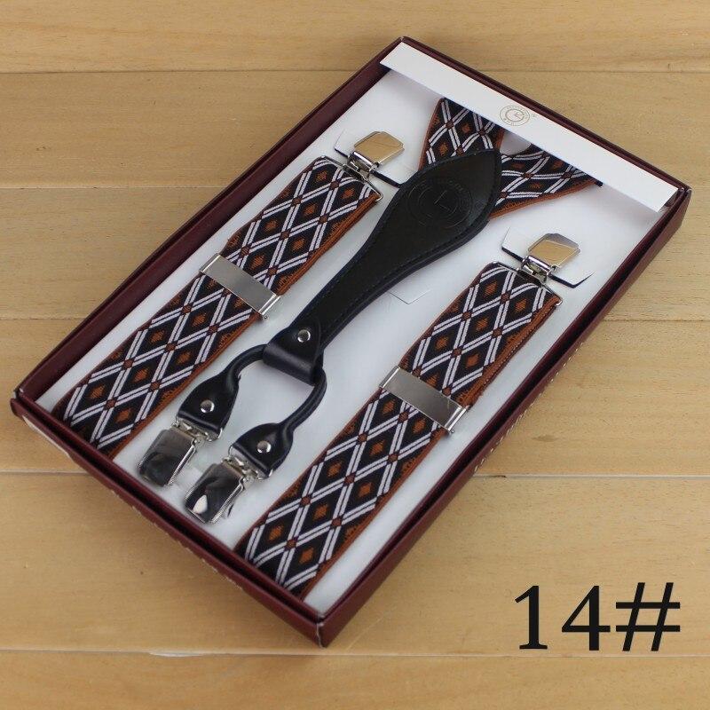 Мужские подтяжки с 4 зажимами мужские подтяжки - Цвет: 14
