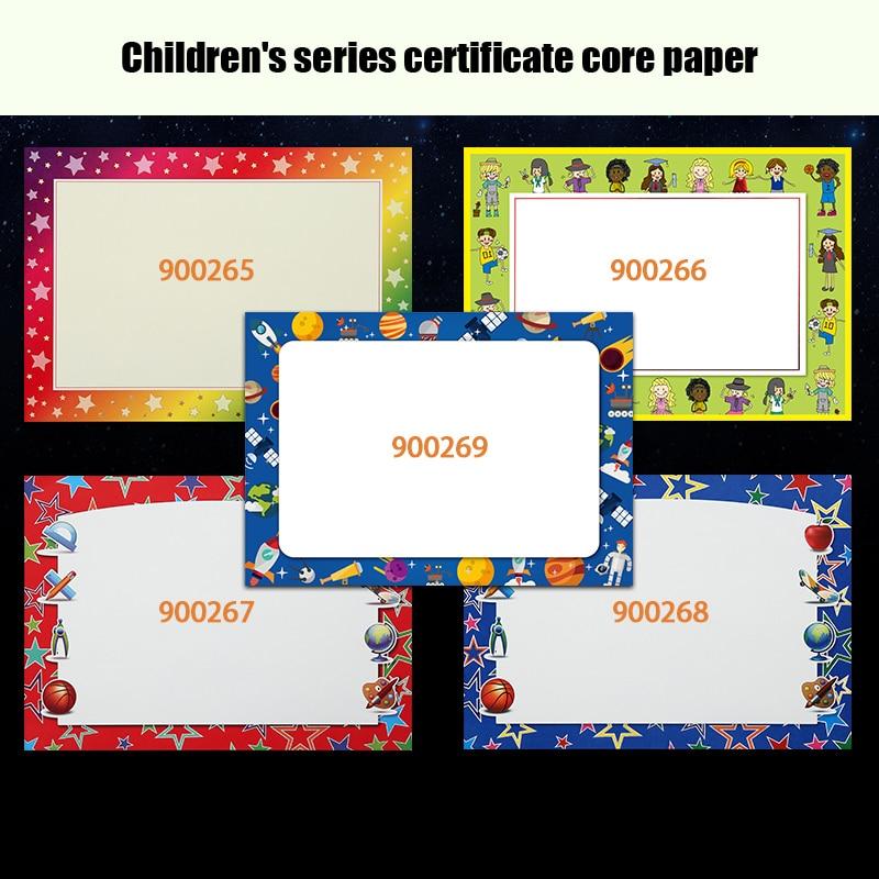 Купить с кэшбэком Cuckoo 1pcs honor certificate production school children's kindergarten award custom pupils blank core certificate paper