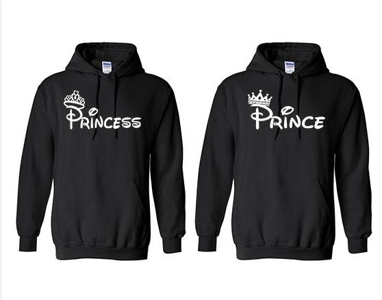 Prince Princess Hoodies Casual Style Clothing Sweatshirt High Quality Cotton Girl Pullover Lovers Installed Crewneck Crown Tops