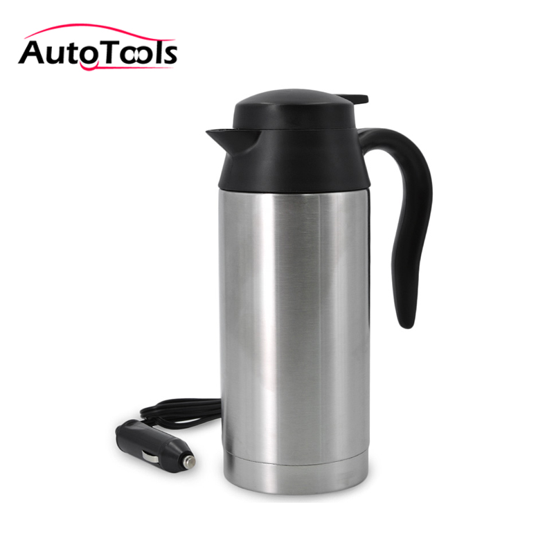 Auto Car Heating cup Stainless Steel Cup travel Kettle for Coffee Tea Heated Mug Motor Hot Water portable car cup car kit