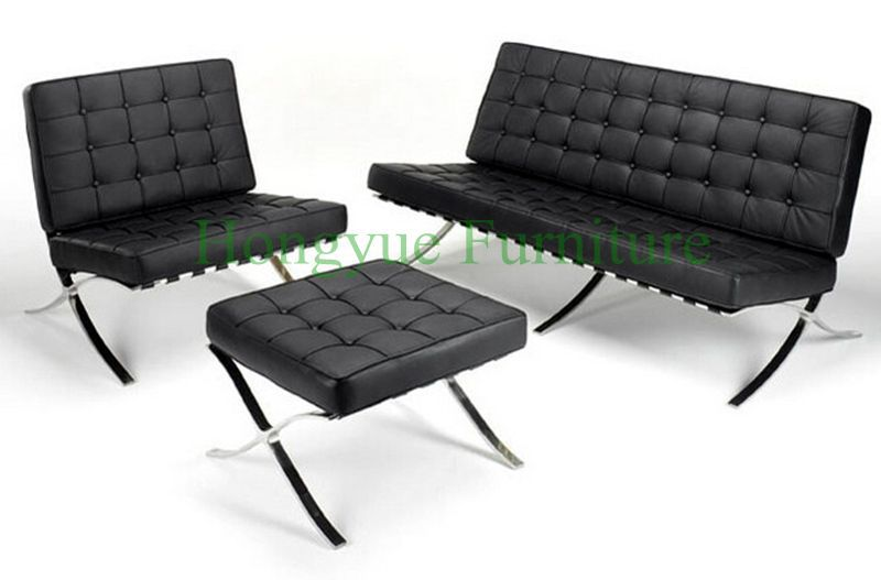 купить Modern leather one seat reclining lounge leather barcelona chair for living room недорого