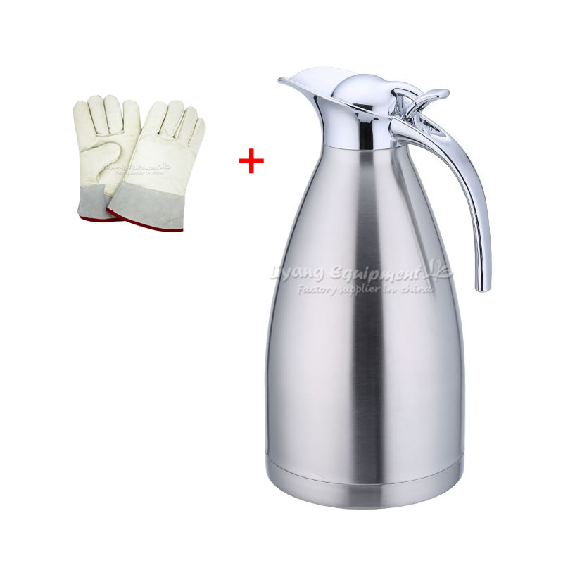 2L liquid nitrogen kettle cold resistant for minus 196 degree with 25CM nitrogen-proof gloves from minus 180 to minus 250 degree2L liquid nitrogen kettle cold resistant for minus 196 degree with 25CM nitrogen-proof gloves from minus 180 to minus 250 degree