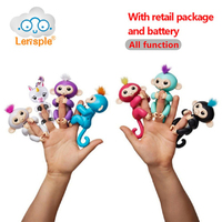 Lensple 6 Color Fingerlings Interactive Baby Monkeys Smart Colorful Fingers Llings Smart Induction Toys Best