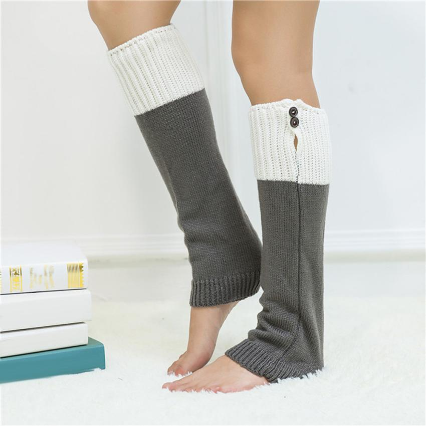 Mujeres Invierno Caliente Knit Crochet High Knee Leg Warmers Boot ...