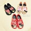 Mini SED girl sandals Minnie 2016 new plain rain boot baby summer jelly little cat children toddler kids shoes 13cm-15.5cm