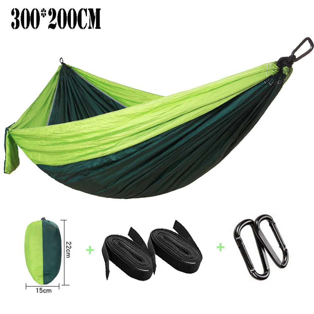 300*200 Lengthened Widening 2-3 People Sleeping Parachute Hammock Chair Hamak Garden Swing Hanging Outdoor Hamacas Camping Goods outdoor double hammock portable parachute cloth 2 person hamaca hamak rede garden hanging chair sleeping travel swing hamac