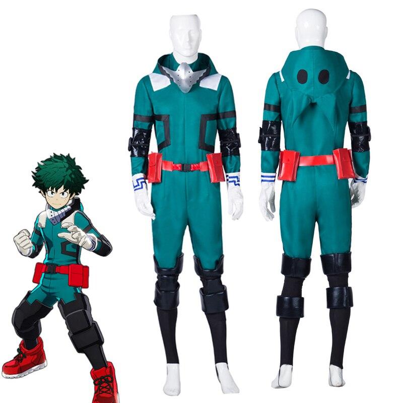 Anime boku pas de héros académique mon héros académique Izuku Midoriya Costume de Cosplay Deku Costume de Combat Halloween fête uniforme sur mesure