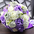 Bridal Wedding Bouquet 30 Handmade PE Roses buque de noiva wedding flowers bridal bouquets pristian zouboutin  6 Colors