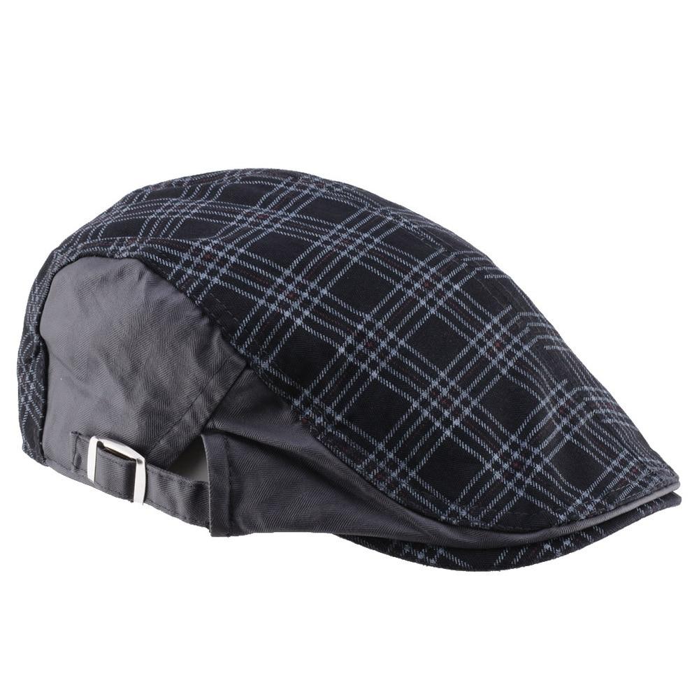 f8061fd96c6 Hot Sale! 2015 New Fashion Plaid Peaked Caps Travel Golf Gorras ...